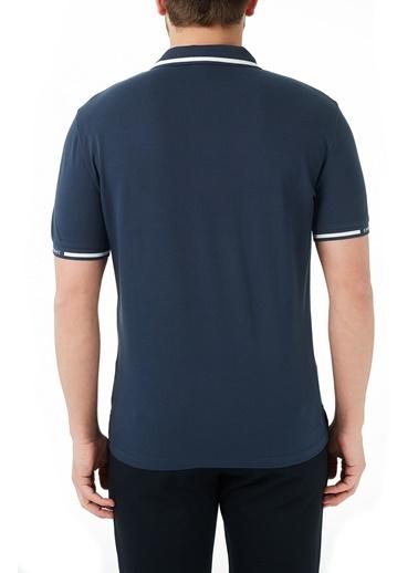 Emporio Armani  Pamuklu Düğmeli Polo T Shirt Erkek Polo 3K1Fa4 1Jptz 09D0 Lacivert